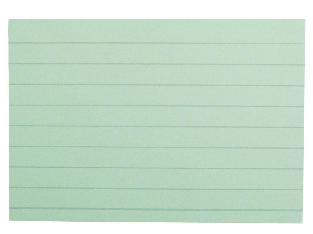 200 Karteikarten DIN A8 liniert grün