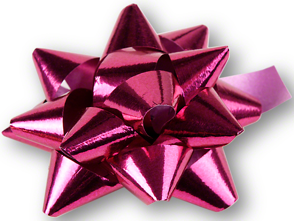Weihnachten Dekoration Geschenkschleife Pink Selbstklebend
